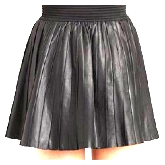 d2bead37ce Parker Skirts | Pleated Leather Skirt In S | Poshmark