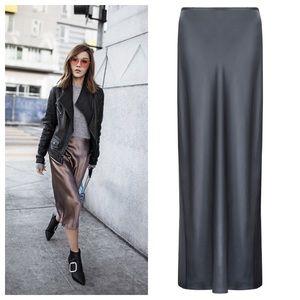 Vince Dresses & Skirts - Vince Charcoal Satin Skirt