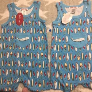 Baby Nay Other - Baby Nay 12 month twin boy rompers