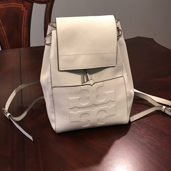 b29a8a0c8ad Tory Burch Ivory Bombe Backpack