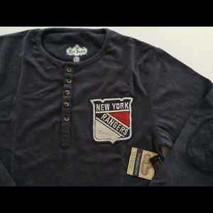 Red Jacket Other - New York Rangers Fleece Henley by Red Jacket