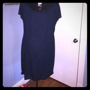 sophie max Dresses & Skirts - Black with blue velvet detail dress