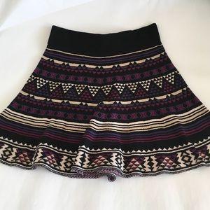 F21 Printed Skater Skirt