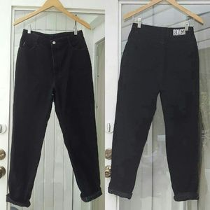 Vintage Bongo black high waisted mom jeans