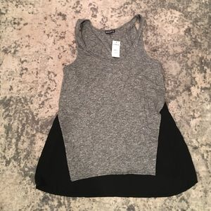 Gray and black express tank top