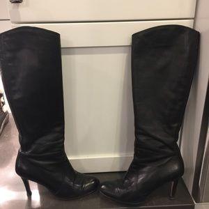 Corso Como Shoes - Corso Como high leather black boots. Heel 3.5 in