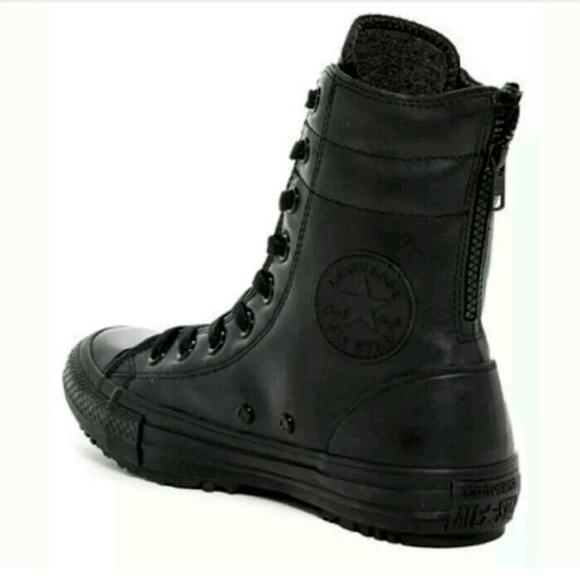 67a2d587ad NEW CONVERSE Black Rubber Moto Combat Rain Boot. NWT. Converse.  M 588d20fdbf6df5df7601da08. M 588d20fe13302a427e01d8c6.  M 588d2100c6c795eba103d231