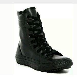 Converse Shoes - ⚡SALE⚡ CONVERSE Black Rubber Moto Combat Rain Boot