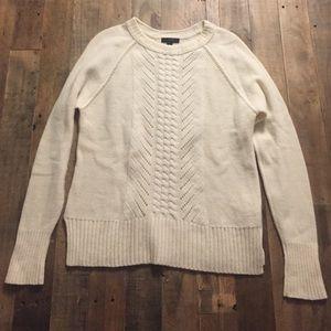 J. Crew Cableknit Crewneck Sweater