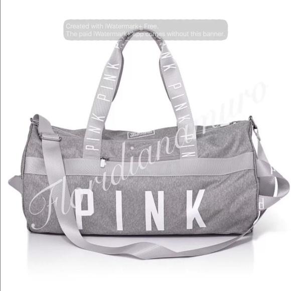 New Victoria Secret Duffle gym travel bag Gray a1b11ffdb0cad