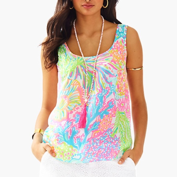 03bff21e54c NWT Lilly Pulitzer Lovers Coral Tank
