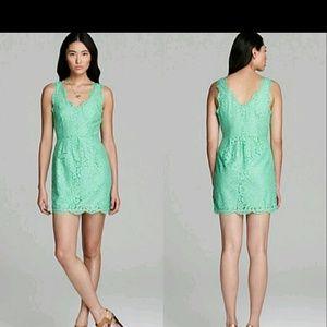 Joie Green rori lace dress xs