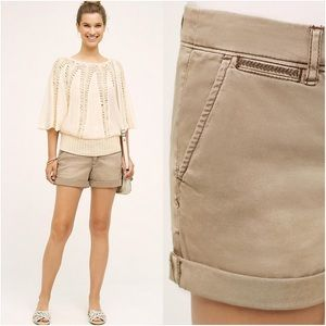 Anthropologie Pants - Anthropologie Hyphen Chino Shorts by Pilcro