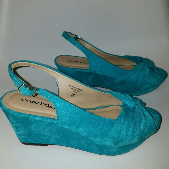 Teal Wedges