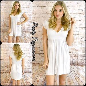 Pretty Persuasions Dresses & Skirts - 3 LEFT‼️NWT Light Gray Baby Doll Jersey Shirtdress