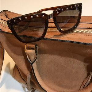 Valentino Accessories - Valentino brown rockstud sunglasses