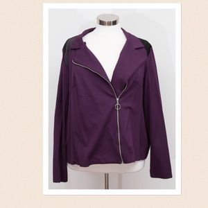 Domino Dollhouse Jackets & Blazers - Purple Blazer with black shoulder detail