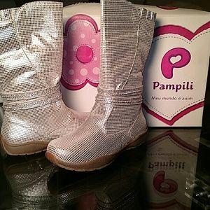 Pampili Other - NEW GIRLS Pampili Silver Metallic Boots