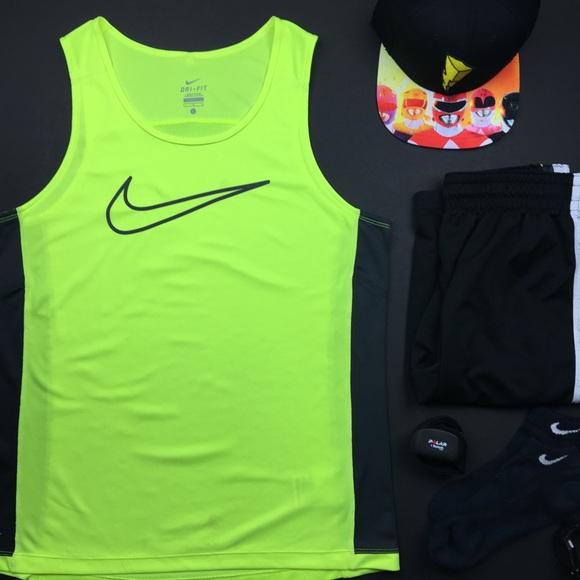 Nike Other - Nike Dri-Fit Neon Yellow Gym Tank