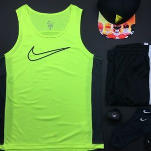 Nike Dri-Fit Neon Yellow Gym Tank