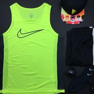 Nike Dri-Fit Neon Yellow Gym Tank