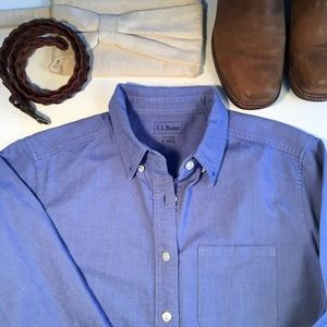 LL Bean Cotton Button Down Shirt
