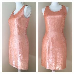 Scala Dresses & Skirts - Scala Pink Sequin Shift Dress small