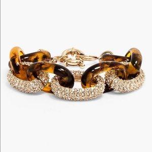 BaubleBar tortoise resin and bevel jewel bracelet
