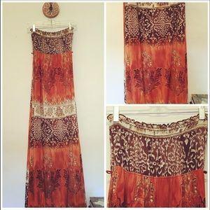 70's Boho Vintage Maxi Dress