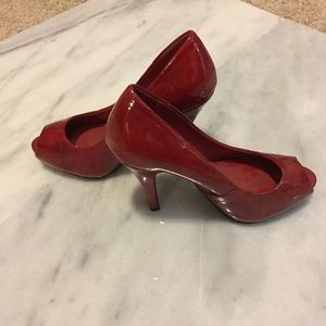 Paprika Shoes - Ruby red patent leather shoes size 6.5