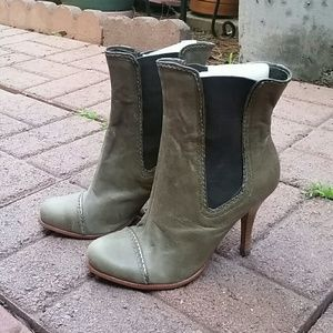 Olive green above ankle boot NEW!