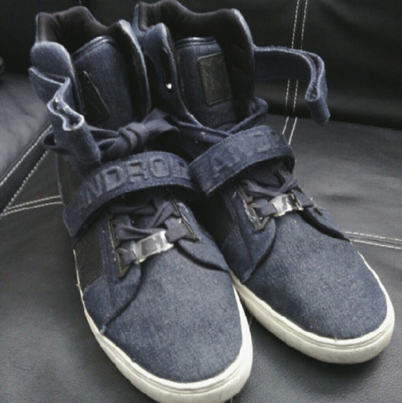 Android homme Shoes | Navy Blue Denim