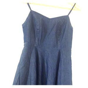 Relished Dresses & Skirts - Relished Spaghetti Strap Empire Waist Jean Dress