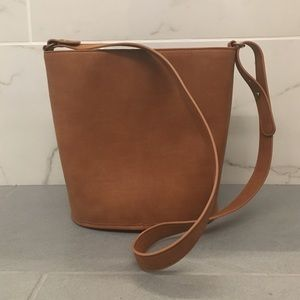 LOFT tan bucket bag