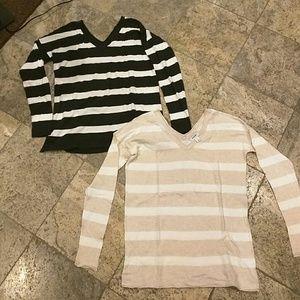 NWOT V-neck striped sweater bundle