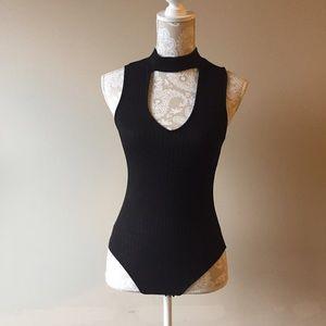 Haute Collection Tops - Black choker bodysuit