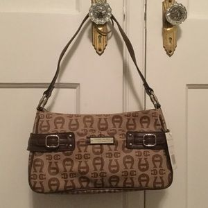 Etienne Aigner Handbags - Etiene Aigner Brown Regal Shoulder Bag