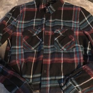Forever 21 new flannel crop top