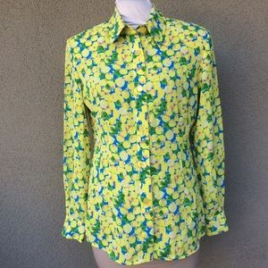 Guy Laroche 1980s vintage citrus print top