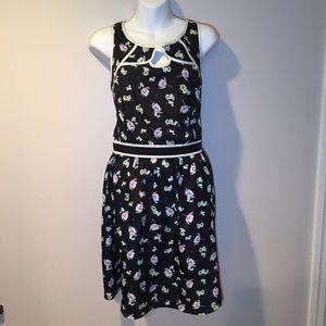 Lauren Conrad black and floral dress. Size 14