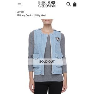 {Laveer} Military Denim Utility Vest, $265
