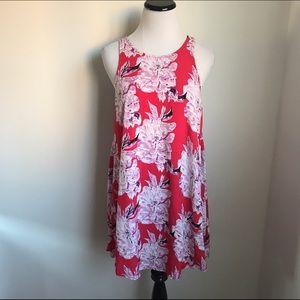 ASTR Dresses & Skirts - ASTR Red Floral Dress