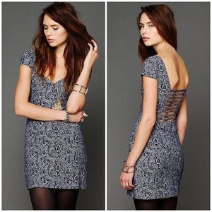 Free People Dresses & Skirts - {FP} Intimately Floral Denim Sweetheart Dress, $88