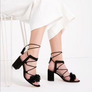 Zara Leather Lace Up Sandals