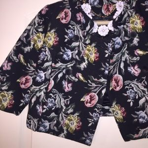 Jackets & Blazers - Floral Cropped Jacket