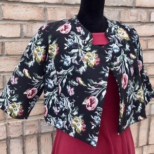 Jackets & Blazers - Vintage Floral Cropped Jacket