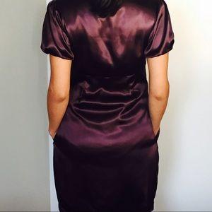 Beautiful metallic purple italian mini dress