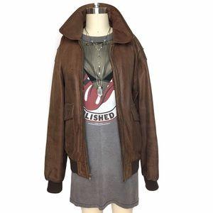 Vintage Jackets & Blazers - CLASSIC LEATHER VINTAGE 100% LEATHER FLIGHT JACKET