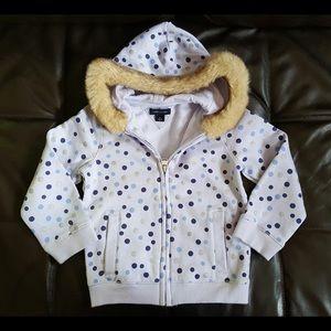 Tommy Hilfiger Girls Faux Fur Hoodie - 3T
