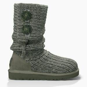 UGG Kid's Gray 2-button Cardi Boots size 6